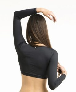 Poledancerka Long Sleeve Ballerina Top schwarz