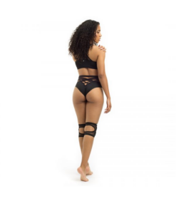 Poledancerka High Leg Bottom schwarz
