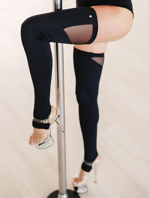 Poledancer Leg Warmers schwarz