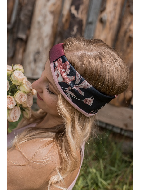 Heel Heldin Haarband Black Floral